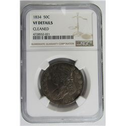 1834 BUST HALF DOLLAR NGC VF DETAILS