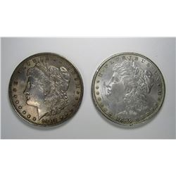 1898 AU MORGAN & 1904-O MORGAN XF