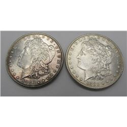 2-AU MORGAN DOLLARS 1883 & 1886