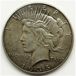 1935 PEACE DOLLAR VF+