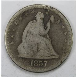 1857-O SEATED QUARTER