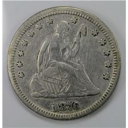 1876 SEATED QUARTER