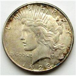 1923 S PEACE DOLLAR AU