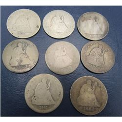 8-SEATED QUARTERS - MIXED DATES