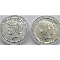 1926 & 1922 PEACE DOLLARS