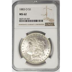 1883-O Morgan Silver Dollar $1 NGC MS62