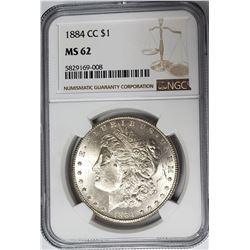 1884 CC Carson City Morgan Dollar NGC MS62