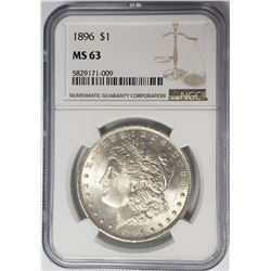 1896-P Morgan Silver Dollar $1 NGC MS63
