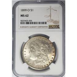 1899-O Morgan Silver Dollar $1 NGC MS62