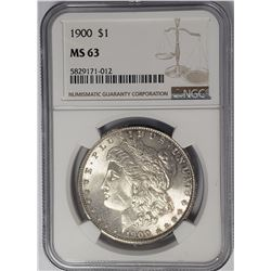 1900-P Morgan Silver Dollar $1 NGC MS63