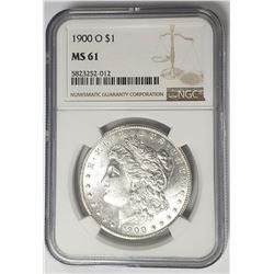 1900-O Morgan Silver Dollar $1 NGC MS61