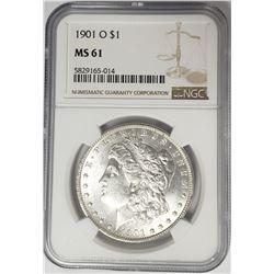 1901-O Morgan Silver Dollar $1 NGC MS61