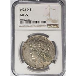 1923-D Peace Dollar $1 NGC AU55
