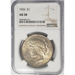 1926-P Peace Dollar $1 NGC AU58