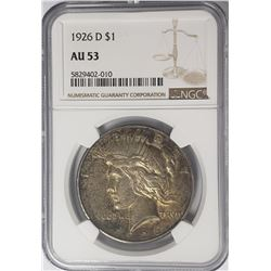 1926-D Peace Dollar $1 NGC AU53