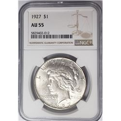 1927-P Peace Dollar $1 NGC AU55