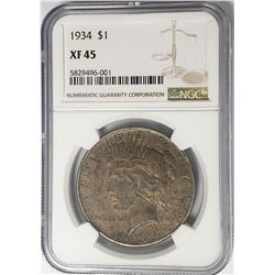 1934-P Peace Dollar $1 NGC XF45