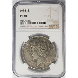 1935-P Peace Dollar $1 NGC VF20
