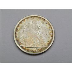 1876 SEATED HALF DOLLAR