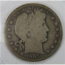 1905-O BARBER HALF DOLLAR
