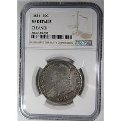1831 BUST HALF DOLLAR NGC VG DETAILS