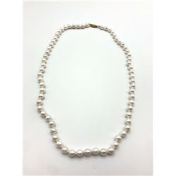 14K PEARL NECKLACE SINGLE STRAND