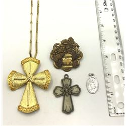 4 PIECE LOT OF RELIGIOUS JEWELRY