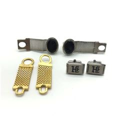 3 PAIRS OF CUFF LINK CLASSY