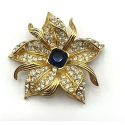 MINT NOLAN MILLER CRYSTAL BLUE BROOCH