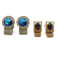 2 STUNNING PAIRS OF CUFF LINKS MUST SEE