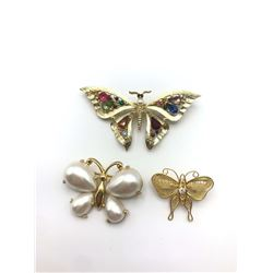 3 BUTTERFLY BROOCHES (1NAPIER)