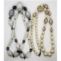 2-VINTAGE BEADED NECKLACES