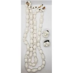 SET! WEST GERMANY WHITE BEADED NECKLACE