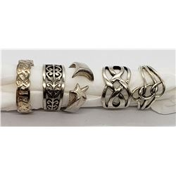 5 925 STERLING RINGS CLASSIC DESIGNS