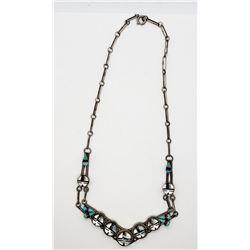 Zuni Sunface God Necklace Sterling Silver