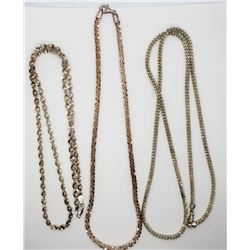 3-STERLING NECKLACES: (1)18 INCH MILOR ITALY