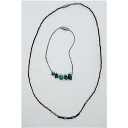 LIQUID STERLING NECKLACE WITH TURQUOISE