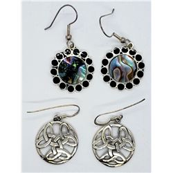2-PAIRS OF STERLING DANGLY EARRINGS: (1)MEXICO