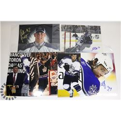 LOT OF 6 VARIOUS NHL LOS ANGELES KINGS SIGNED 8X10