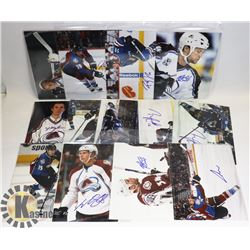LOT OF 14 NHL COLORADO AVALANCHE SIGNED 8X10