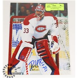 MONTREAL CANADIENS GOALIE PATRICK ROY SIGNED 8X10