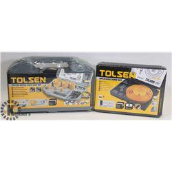 SEALED 2 TOLSEN 8 PC HOLE SAW SET