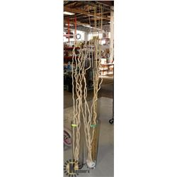 TWO TALL DECORATIVE VASES WITH STICKS