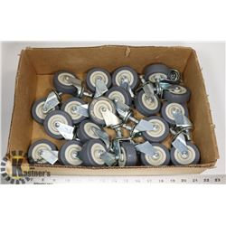 BOX OF 20 SWIVEL CASTORS