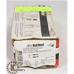 RED HEAD 50PC OF CONCRETE ANCHORS