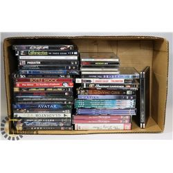 BOX OF MOVES & DVDS SETS