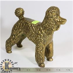 """SOLID BRASS POODLE FIGURE 7"""" X 8"""""""