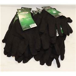 BOX WITH 10 PAIRS OF SZ L HORIZON TEXTILE GLOVES