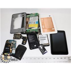 BOX OF TABLETS AND CELL PHONES ( PARTS ONLY )