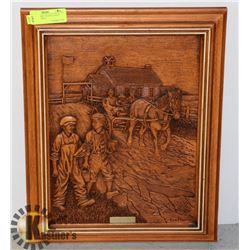 "CARVED WOOD "" SCHOOL DAYS "" BY: KIM MURRAY"